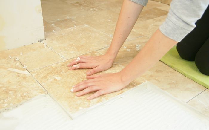 install groutable tile without burning